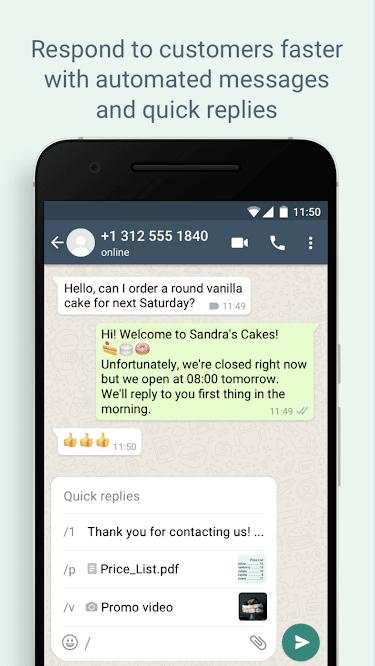 Set automated preset messages