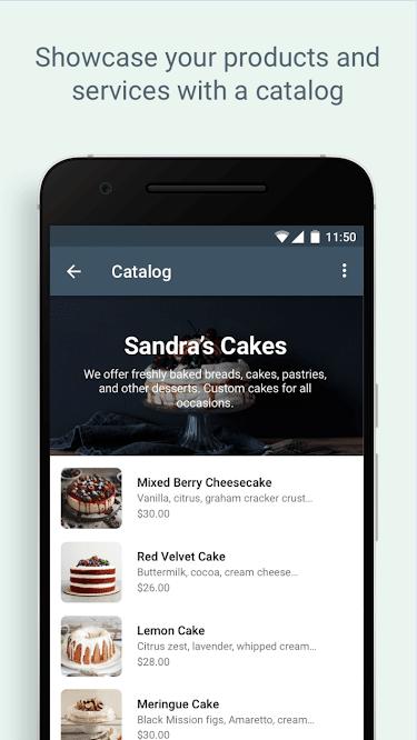Setting catalog for business